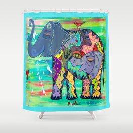 ENIGMA ELEPHANTE Shower Curtain
