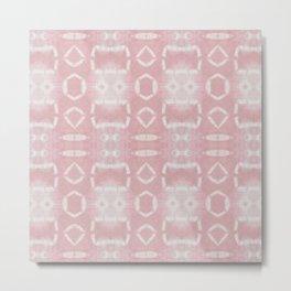 Eco Dye Tribal Pink Metal Print
