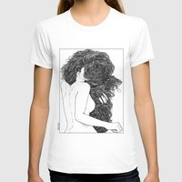 apollonia T-shirts featuring asc 590 - Le peigne (Combing her hair) by From Apollonia with Love
