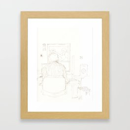 Composition of a composer Framed Art Print