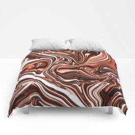 Liquid Golden Marble 011 Comforters