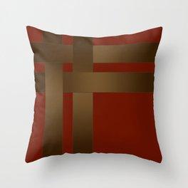 Weave Brown satin ribbons Throw Pillow