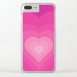 Bubble Gum Heart - Illustration Clear iPhone Case