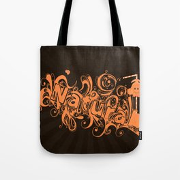 """Typography Spill """"Natural"""" Tote Bag"""