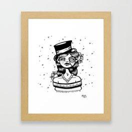 Top Hat Girl Framed Art Print