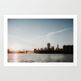 Skyline New York | Colourful Travel Photography | New York City, America (USA) Art Print