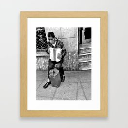 Accordion Man Framed Art Print