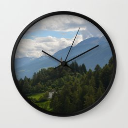 A glimpse through the forest Wall Clock