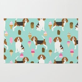 beagle ice creams dog lover pet gifts cute beagles pure breeds Rug