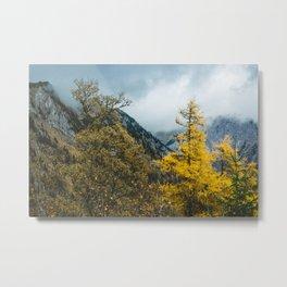 Mountains of Austria. || Autumn in Snow Alps. || Schneealpe. || Österreich. Metal Print