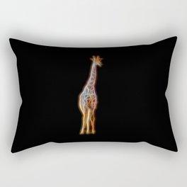 Neon Giraffe Rectangular Pillow