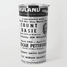 Vintage Birdland Jazz Club Count Basie Orchestra Concert NYC Broadway Advertising Poster Travel Mug