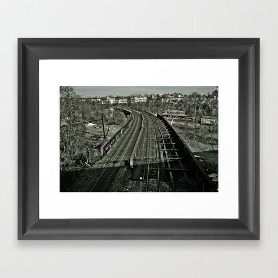 Tracks Revisited Framed Art Print