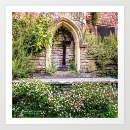 Usk Castle St George Chapel 2 Art Print