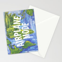 Airplane Mode Stationery Cards