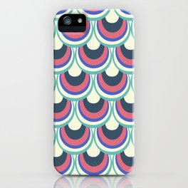 Japanese pattern pink and blue iPhone Case