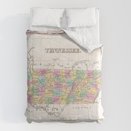 Vintage Map of Tennessee (1827) Comforters