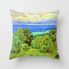 Storm Clouds - Theodore Clement Steele Throw Pillow