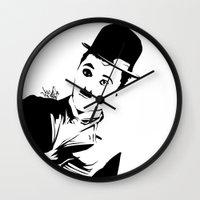 chaplin Wall Clocks featuring Chaplin by Vee Ladwa