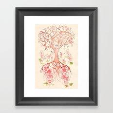 Árbol de familia Framed Art Print