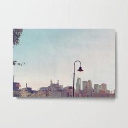 Minneapolis Minnesota Skyline at the Stone Arch Bridge Metal Print