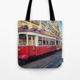 Tram Jam Tote Bag