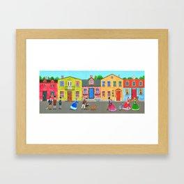 New England town Framed Art Print