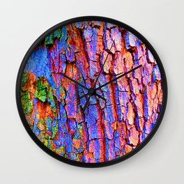 Rainbow tree of life Wall Clock