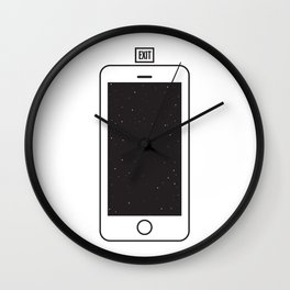 NOTHING #1 - Always Somewhere Else Wall Clock