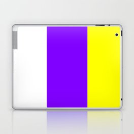 flag of canary islands 2b -canaries,canary,atlantic,canarias,Canarian,canario,canaria,spain,spanish, Laptop & iPad Skin