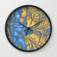 saxophone Wall Clocks featuring Saxophone by tempehmonster