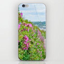 Mylor Walk - Red Campion Hedgerow iPhone Skin