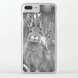 Bunnies Clear iPhone Case