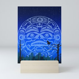 qathet Moonrise Mini Art Print