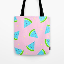 Watermelon in Pastel Neon | Watermelon Seed | Watermelon Home Decor | pulps of wood Tote Bag