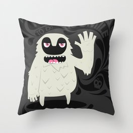 All you have to do is smile and say Hi! Throw Pillow