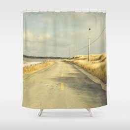 The Road to the Sea Shower Curtain