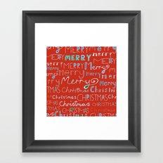 Merry Christmas Framed Art Print
