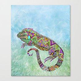 Electric Iguana Canvas Print