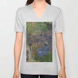 1887 - Gauguin - On the shore of the lake at Martinique Unisex V-Neck