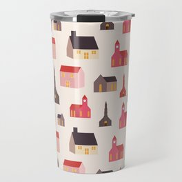 christmas village Travel Mug