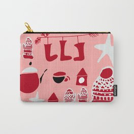 winter gear pink Carry-All Pouch