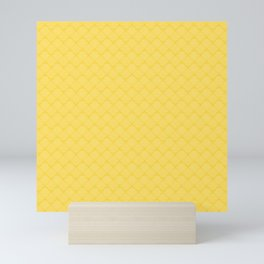 Yellow geometric pattern Mini Art Print