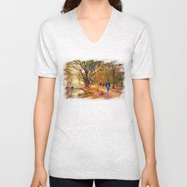 Stroll In The Park. Unisex V-Neck