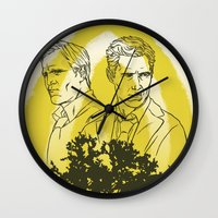 true detective Wall Clocks featuring True Detective by Gavin Guidry