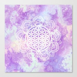 Flower Of Life (Soft Lavenders) Canvas Print