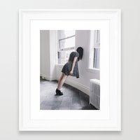 breathe Framed Art Prints featuring BREATHE by TIVN