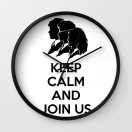 Kee Cam And Join Us Wall Clock