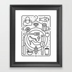 Food and Fashion Framed Art Print