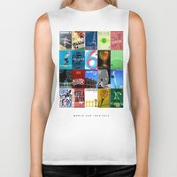 world cup Biker Tanks featuring World Cup: 1930-2014 by James Campbell Taylor